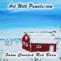 Advanced Class - Snow Covered Red Barn